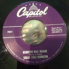 HEAR 1950 Boogie Woogie R&B Sugar Chile Robinson Bouncing Ball Boogie Capitol 45