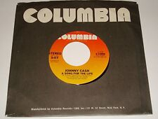 JOHNNY CASH ORIGINAL 45 A SONG FOR THE LIFE / I WILL ROCK & ROLL WITH YOU 1978