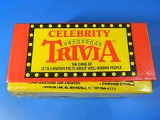 Brand New Vintage Celebrity Trivia Game 1980s Factory Sealed!