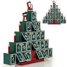 Calendrier De L'Avent En Bois À Remplir Soi Même- Pyramide Decoration Noel