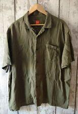 HUGO BOSS Orange Label MENS LINEN Short Sleeve Shirt Size XXL Green