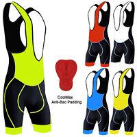 Mens Cycling Bib Shorts Front Bib Tights Bicycle Cycle Shorts Anti- Bac Padding