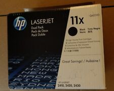 GENUINE HP 11X Dual Pack High Yield Toner Cartridge  2410,2420,2430(W6511XD)