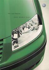 Volkswagen Sharan 2000-01 UK Market Sales Brochure Carat Sport SE S