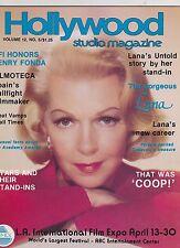 1978 V12 #4  HOLLYWOOD STUDIO vintage movie magazine - LANA TURNER - DOUBLE CVR