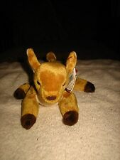 TY BEANIE BABY DEER~WHISPER~RARE~SO CUTE~TUSH TAG STAMPED #456~NWT~L@@K~