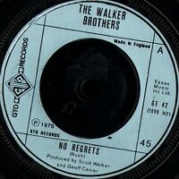 """THE WALKER BROTHERS no regrets/remember me GT 42 uk gto 1975 7"""" WS EX/"""