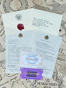 Harry Potter Inspired Personalised Hogwarts Acceptance Letter Gift