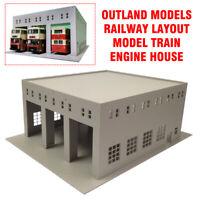 HO Scale 1:87 Outland Models Railway Layout Model Train Engine House (3 Stall)