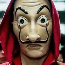 La Casa De Papel Maske Salvador Dali Kunststoff Gesicht Lustige Maske Kostü P9C6