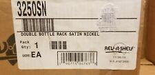 Rev-A-Shelf 3250SN Double Bottle Rack IN Satin Nickel