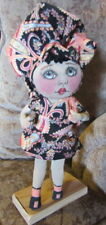 Artist Doll, Ooak, original Pixie Doll, Cloth Doll, collectible by Glasco.