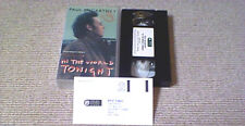 Paul McCartney In The World Tonight BEATLES OOP UK PAL VHS Video RARE No DVD