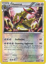 Haxorus Holo Rare Reverse Holo Pokemon Card BW5 Dark Explorers 89/108