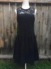 H&M Womens Dress 10 Black Lace Sleeveless