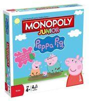 Peppa Pig Junior Monopoly Classique Jeu de Société pour Enfants Âge 4+