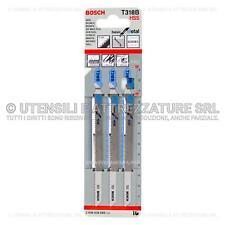 3 LAME SEGHETTO ALTERNATIVO BOSCH per TAGLIO LAMIERA ALLUMINIO 2,5 - 6 mm T318B