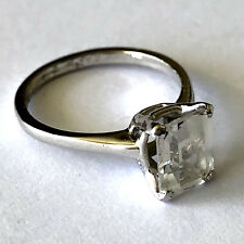 Engagement Ring Ladies Band Sz 4.75 Vintage Uncas 925 Sterling Clear Stone