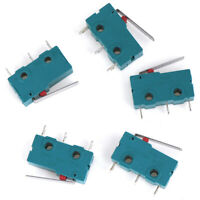 5Pcs KW4-3Z-3 5A Straight Micro Switch for 3D Printer 150-250V Limit Switch LY