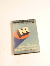 Vintage advertising match book cover:  Nature's Remedy vegetable laxative