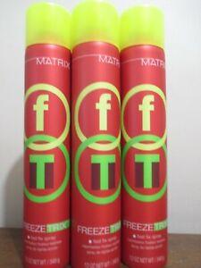 Lot of 3 Matrix Freeze Trix fast fix hair spray 12 Oz