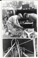 LOTUS 15 IV COCKPIT ENGINE PIT 1958 OULTON PARK PHOTOGRAPH GRAHAM HILL SALVADORI