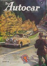 Autocar magazine 6/11/1953 featuring Porsche 356 saloon road test, Bentley