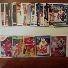 Detroit Red Wings Lot of 25 cards-70's/80's Cards, Red Wings Heros, Rookie Cards