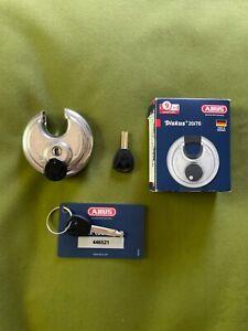 AS IS ABUS DISKUS 20/70 PADLOCK PLUS GERMANY BROKEN KEY DISC DETAINER LOCKSPORT