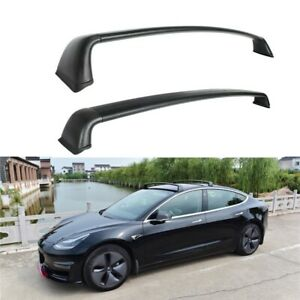 Crossbars Roof Racks Fit For Tesla Model 3 2017+ Top Roof Luggage Rack Rails