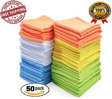 Microfiber Cleaning Cloth Set of 50 Pack Towel Detailing Cloths Scratch Kitchen