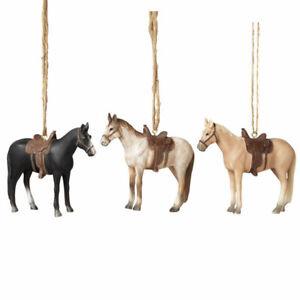 Western Horse w/Saddle Ornament