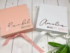 Personalised Bridesmaid Box | Maid of Honour Flower Girl Gift Box
