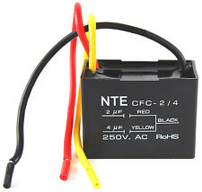 NTE CFC-2/4 - CAPACITOR CEILING FAN 2+4 UFD 125/250 VAC 3 WIRE DUAL VERSION