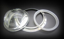 Batwing 100mm Glass Lens + Press Ring + Silicone Ring For 100W - 500W Led Light
