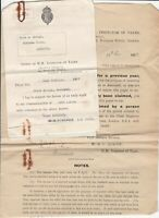Office of H.M. Inspector of Taxes Alnwick 1937 Repayment Form & Letter Ref 38830