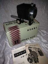 Vintage Asahi Pentax Bellows Unit with box and Instructions Excellent!