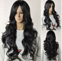 Wig Natural Curly Wavy Fancy Dress Fashion Womens Ladies Hair Wig Heat Resistant