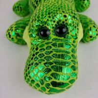 Kellytoy Shiny Green Alligator Crocodile Plush Stuffed Animal Toy Scales Sparkle