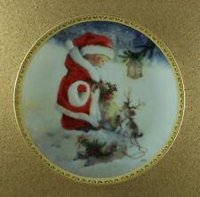 Santa'S Littlest Reindeer Plate A Lisi Martin Christmas Holiday Puppy Dog Lovely
