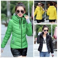 New Winter Women's Coats down Parka Slim thick padded jacket Zip padded Coat