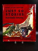 1952 Just So Stories Rudyard Kipling 72 Color Pictures by Nicolas HC DJ VG