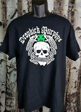 DROPKICK MURPHYS Boston Promo Concert Band T Shirt Large Black Skull Shamrock