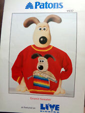 Knitting Pattern Patons Y637 Child's Gromit Sweater 5-12 Years DK