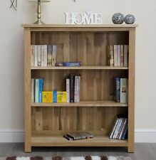 Arden solid oak furniture small office living room bookcase with three shelves