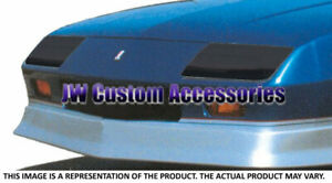 Fits 89-92 Chevrolet Camaro RS GTS Smoke Acrylic Headlight Covers Pair GT0155S