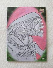 Upper Deck Alien Sketch Card by Artist Chris West