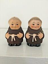 New ListingHummel Goebel Figurine Friar Tuck Salt & Pepper Shakers & 1 Set W/ Chip For Free