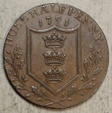1794 Hull Half Penny Conder Token, D&H 23, Problem Free Very Fine, Nice  0831-04
