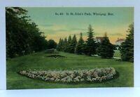 Winnipeg Manitoba Canada St Johns Park Vintage Postcard